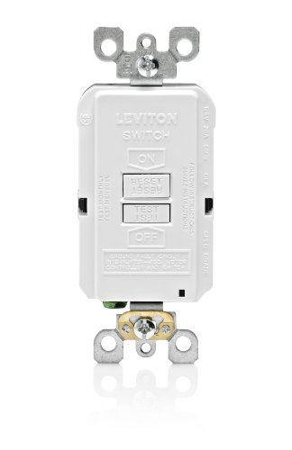 Blank Gfi - Leviton X7590-W 20-Amp 125-Volt SmartLock Pro Slim Blank Face GFCI Receptacle, White