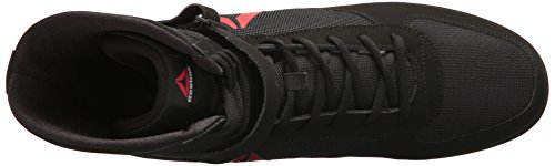 Reebok Men's Boxing Boot-Buck Sneaker, Delta-Black/Black/White, 10.5 M US