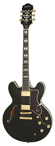 Epiphone SHERATON-II PRO Thin-line, Semi-Hollowbody Electric Guitar with Coil Tapping, Ebony