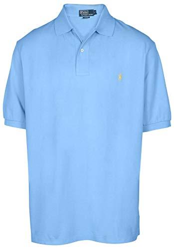 Polo Ralph Lauren Men Classic Fit Mesh Polo Shirt Big & Tall, Chat Blue (4XB)