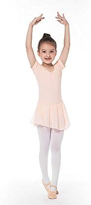 Bezioner Girls Ballet Dance Dress Purple Ballet Leotard with Skirt for Girls Kids