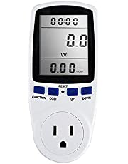 Romacci Medidor de energia digital LCD wattímetro dispositivo de monitoramento wattagem eletricidade Kwh Power Measuring Outlet Analyzer