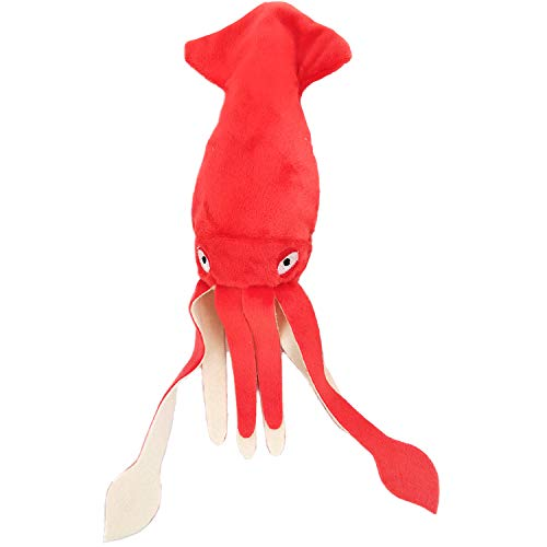 AXEN Squeaky Dog Toy, Cuttlefish Large