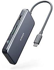 Anker USB C Hub, PowerExpand+ 7-in-1 USB C-adapter, met 4K HDMI, voeding, USB-C-dataaansluiting, microSD- en SD-kaartlezer, 2 USB 3.0-poorten, voor MacBook Pro, Pixelbook, XPS en meer