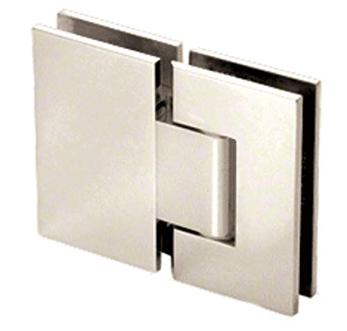 CRL Geneva 380 Series Polished Nickel Adjustable 180176; Glass-to-Glass Hinge