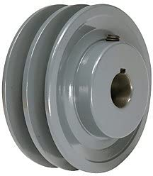 3.25 X 1-1//8 Double Groove AK Fixed Bore Pulley # 2AK32X1-1//8