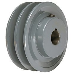 X 5 8 double v groove pulley sheave for Motor pulleys v belt