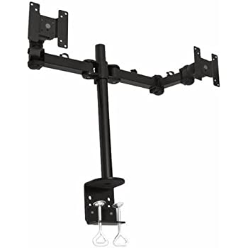Amazon Com Monmount Dual Lcd Monitor Desk Mount Stand