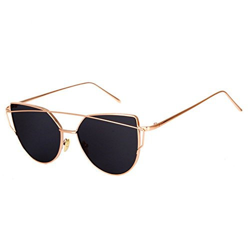 HaiBote Fashion Women Cat Eye Sunglasses Coating Mirror Lens Sun glasses - Lenses Specsavers Varifocal