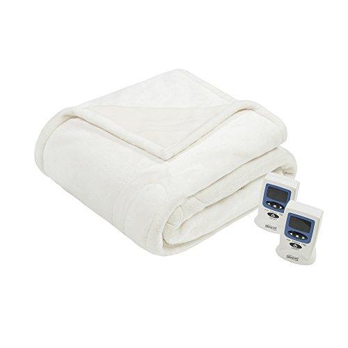 Beautyrest Plush Heated Blanket, King, (Beautyrest Electric Blanket)