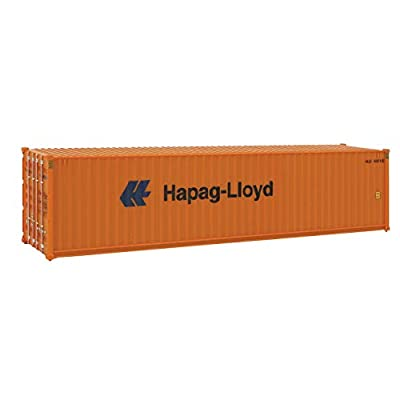 Walthers SceneMaster HO Scale Model of  Hapag Lloyd (Orange, Blue) 40' Hi Cube Corrugated Side Container: Toys & Games