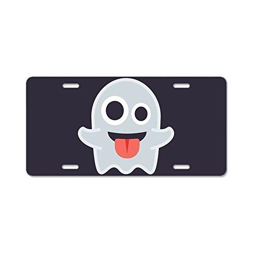 CafePress Ghost Emoji Aluminum License Plate, Front License