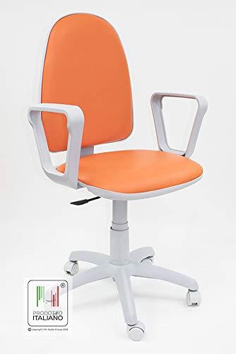 Sedie Da Ufficio Arancione.Sedia Da Scrivania Con Rotelle Girevole Per Ufficio E Cameretta In