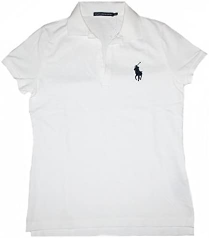 Ralph Lauren Polo Volley Polo Mujer Ajustado Blanco - Blanco, L ...