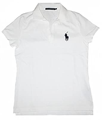 Ralph Lauren Polo Volley Polo pour Femmes Skinny fit Blanc Blanc