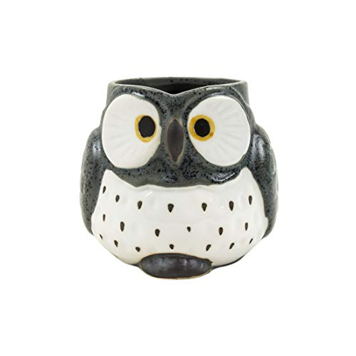 Chumbak Wise Owl Carved Mug – Tea and Coffee Mug, Porcelain Drinking Cup, Dining & Tableware for Hot Beverages, Breakfast Mugs for Home & Office, Dishwasher and Microwave Safe, Size 4.4″x3.5″x3.3″ Price & Reviews