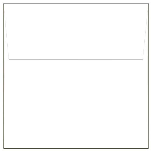 Note Card Cafe Square 5.5 x 5.5 White Envelopes   40 Pack   Sealable, Square Flap   Perfect for Invitations, Greeting Cards, Baby Showers, Weddings, Mailing, Crafts   Printable, Multipurpose