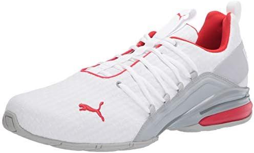 PUMA Men's Axelion Sneaker, White Rise
