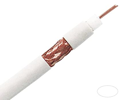 Coaxial Cable - RG6/U, Plenum CMP, 18AWG Solid BC w/95
