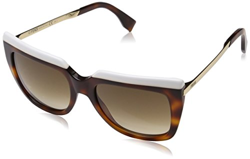 (Fendi Sunglasses ff 0087 cumjd White Havana Gold/Brown 53mm)