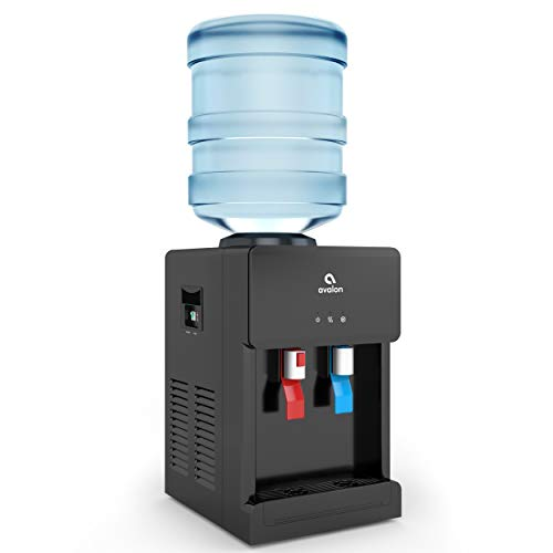 Avalon Premium Hot/Cold Top Loading Countertop Water Cooler Dispenser With Child Safety Lock. UL/Energy Star Approved- Black - A1CTWTRCLRBLK