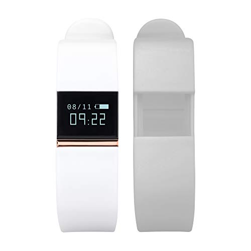 (iTouch Quartz Fitness Watch with Rubber Strap, White, 20 (Model: IFT2435BK668-526))