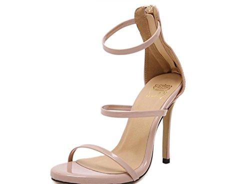 Scarpe YCMDM donne romane dei sandali tacco alto Oro Argento nero nudo 39 36 35 38 40 37 , nude , 35