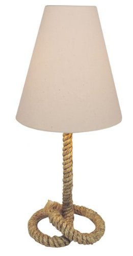 de magicaldeco Mesa Lámpara lámpara pie de de cáñamo nNyvmw80OP