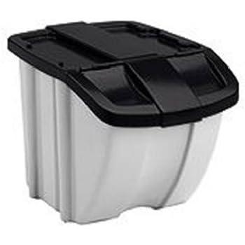 Amazon Com Suncast Stacking Recycling Bins 2 Bin Value