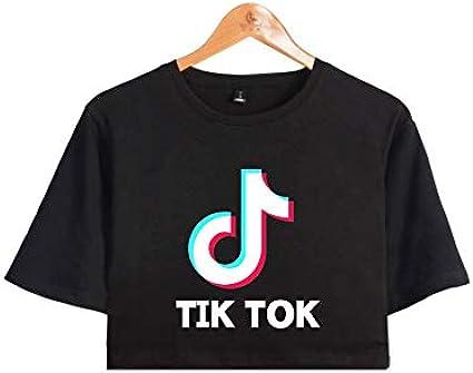 Cosdream 2019 Cool TIK Tok - Camiseta de manga corta para niñas y mujeres, estilo casual - Negro - Small: Amazon.es: Ropa y accesorios