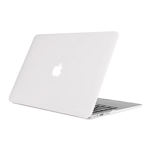 Fintie MacBook Air 13 Inch Case - Fits Previous Generations A1466 / A1369 (Will Not Fit 2018 MacBook Air 13 with Touch ID A1932), Slim Snap On Hard Shell Protective Cover, Frost Clear (White Mac Laptop Case)