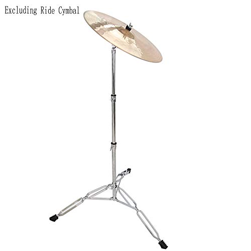 Kuyal Straight Cymbal Stand for Drum Hardware Percussion Mount Holder Gear Set-Silver (Cymbal Stand)