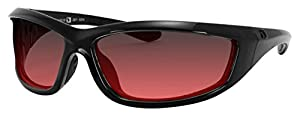 4003379 Bobster Charger Ansi Z87 Sunglass-black Frame/Rose Lenses