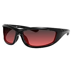 4003379 Bobster Charger Ansi Z87 Sunglass-black Frame/Rose Lenses