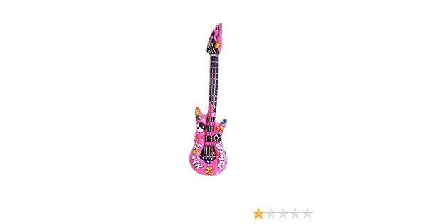 Vegaoo - Guitarra rockera Inflable Rosa - Única: Amazon.es ...