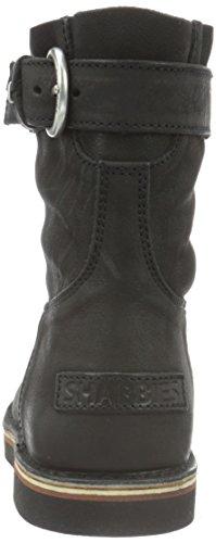 Shabbies Amsterdam Shabbies stitchdown buckle booty 17cm Vintage sole last ALISSA - Botas para mujer Negro - negro