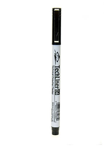 Alvin Tech-Liner Superpoint Drawing Pen/Marker 0.4 mm each [PACK OF 10 ] ()