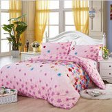 Bedclothes Put - 4pcs Cotton Blend Pattern Paint Printing Bedding Set Twin Size - Material Arranged Located Fixed Readiness Unmoving Clothing Dictated Gear Rigid Primed Bent