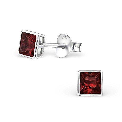 Bezel Square Earrings - 3