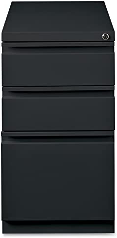 Lorell LLR49521 Mobile File Pedestal, Black