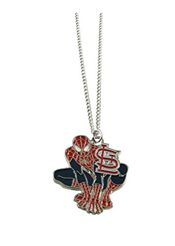 (St Louis Cardinals Spiderman Pendant Silver Chain Necklace Jewelry Gift MLB )