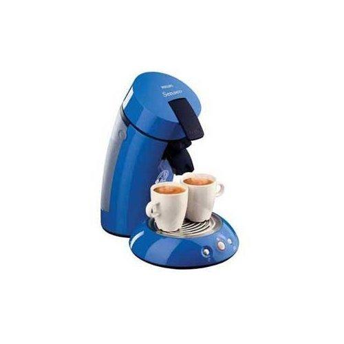 Find a Senseo HD7810 gourmet single serve coffee maker in blue.