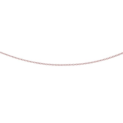 JewelStop 14k Rose Gold Textured Oval Link 2.5 mm Pendant Chain, Lobster Claw Clasp - 20