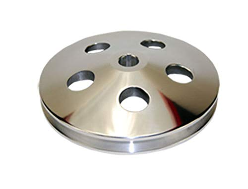 GM & Chevy 67-84 Machined Aluminum Single Groove Power Steering Pulley (Chevy Pulley Aluminum)