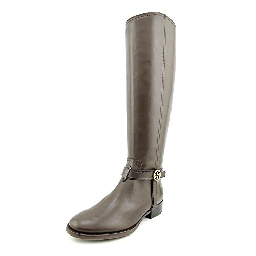 Tory Burch Boots Leather Bristol 30MM Riding TB Metal Logo Leather (8, Coconut)