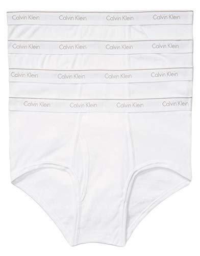 Calvin Klein Men's Cotton Classics Multipack Briefs, Pure White, Small