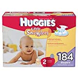 Health & Personal Care : Huggies Little Snugglers, Size 2 (12-18 lbs.), 184 ct.