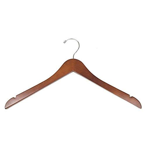 KC Store Fixtures A20116 Wood Hanger 17 Walnut (Pack of 100) [並行輸入品] B07NSDJNPT