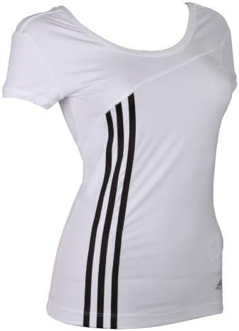 Adidas ClimaCool Damen Sport T-Shirts Trainingsshirt Tops Oberteile Training Running Fitness Freizeit short sleeve ss Tee Frauen Weiss Schwarz Größe 42