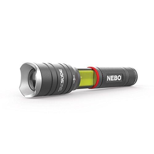 NEBO 6746 Tac Slyde Work Light 12x Adjustable Zoom Flashlight, Lantern 300 lumen COB LED